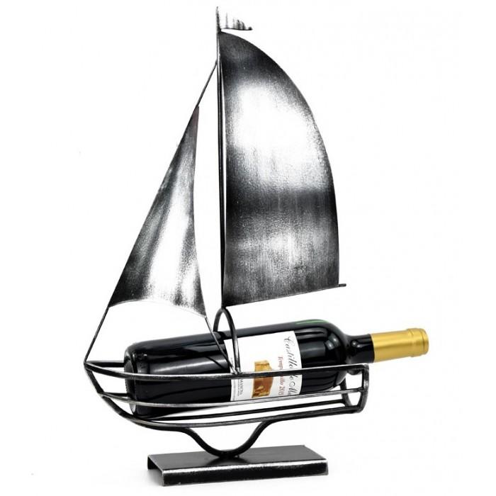 Patina Grey Sailing Boat 27x11x45εκ. Μεταλλική θήκη μπουκαλιού