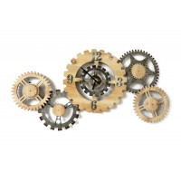 METAL/WOODEN GEAR CLOCK BEAUX-ARTS 102X49,50ΕΚ.