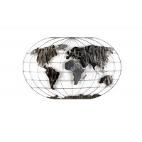 World Map Wall Decoration 120x75εκ. Metal