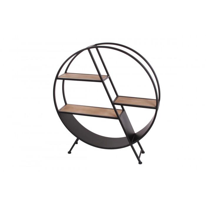 XL FLOOR CIRCLE CABINET/SHELF ART DE FER 89Χ20Χ99EK.  ΒΙΒΛΙΟΘΗΚΕΣ, insidehome.gr