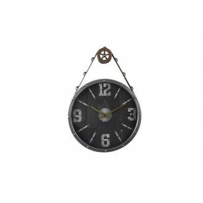 Pulley and Cordage Clock Black Backround 40x58εκ.