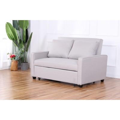 Simone διθέσιος καναπές κρεβάτι 140x94,5εκ. Γκρι ανοιχτό