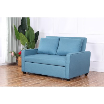 Simone διθέσιος καναπές κρεβάτι 140x90εκ. Πετρόλ