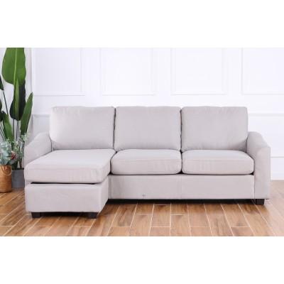 Margot Γωνιακός καναπές 220x150εκ. Γκρι ανοιχτό