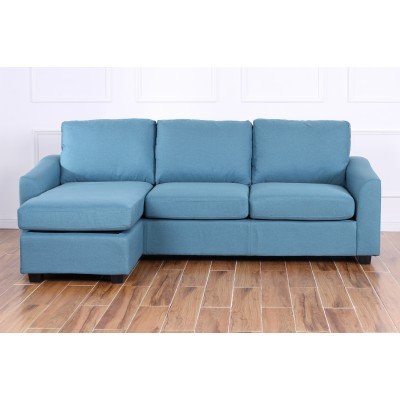 Margot Γωνιακός καναπές 220x150εκ. Πετρολ