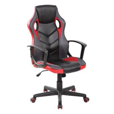 WWO599 Gaming πολυθρόνα Mesh - Pu Μαύρο/Κόκκινο