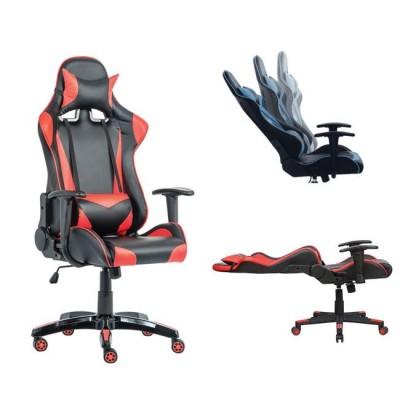Gaming Πολυθρόνα Διευθυντή Μαύρο Pu - Κόκκινο 67x134x45/55εκ.