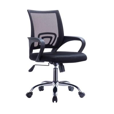 Καρέκλα γραφείου WW0254 Μαύρο mesh ύφασμα πόδια χρωμίου