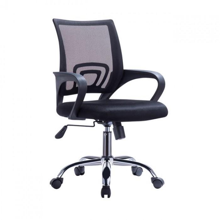 Καρέκλα γραφείου WW0254 Μαύρο mesh ύφασμα πόδια χρωμίου  ΚΑΡΕΚΛΕΣ ΓΡΑΦΕΙΟΥ, insidehome.gr