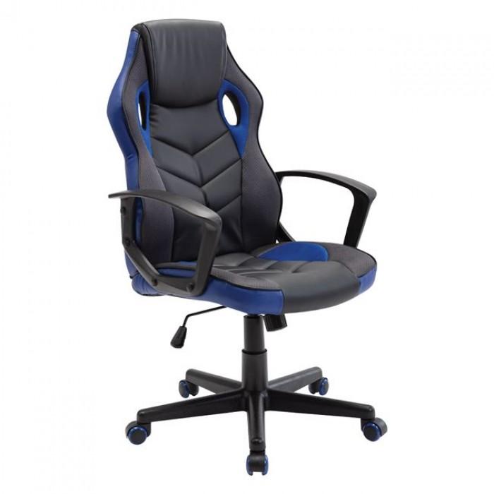 Gaming πολυθρόνα Mesh - Pu Μαύρο/Μπλε WWO599