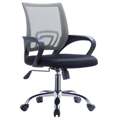 Καρέκλα γραφείου WW0254 Μαύρο/ Γκρι mesh ύφασμα πόδια χρωμίου