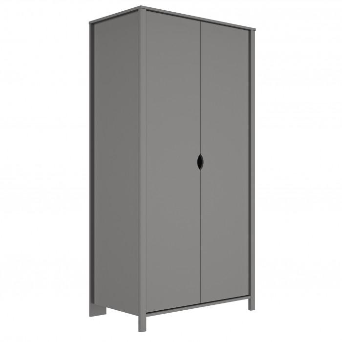 Andy ντουλάπα με 2 πόρτες 95x54x185εκ. Grey moon