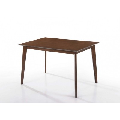 Leo Τραπέζι ξύλινο 120x75εκ. Walnut