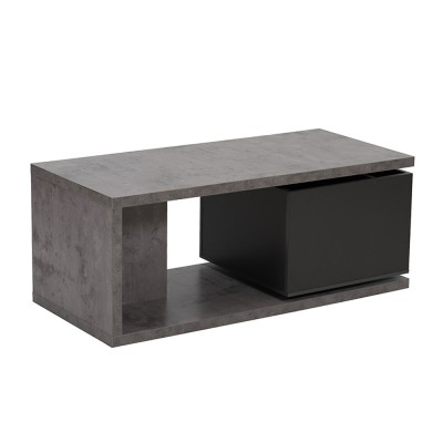 BOX COFFEE TABLE CEMENT ΓΚΡΙ ΣΚΟΥΡΟ 110x50xH44cm