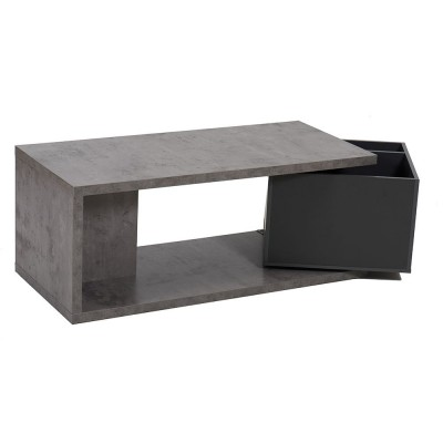BOX COFFEE TABLE CEMENT ΓΚΡΙ ΣΚΟΥΡΟ 110x50xH44cm