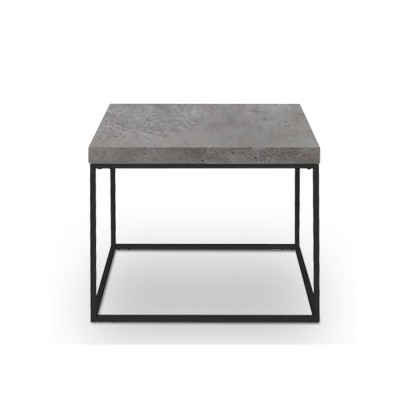 EDRA COFFEE TABLE CEMENT ΑΝΟΙΧΤΟ ΜΑΥΡΟ 59x59xH50cm