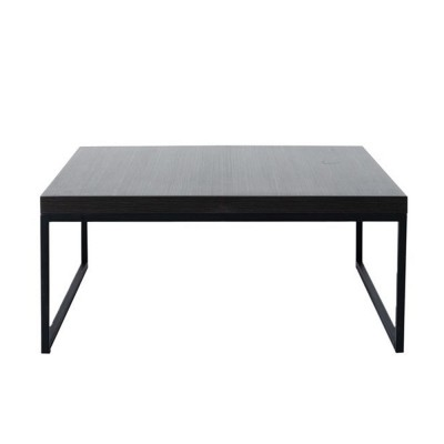 LIVING COFFEE TABLE BLACK OAK ΜΑΥΡΟ 91,5x91,5xH40cm