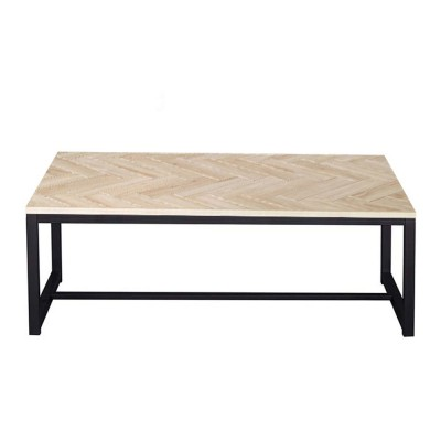 FISHBONE COFFEE TABLE SONOMA ΜΕ PATTERN ΜΑΥΡΟ 110x59xH39cm
