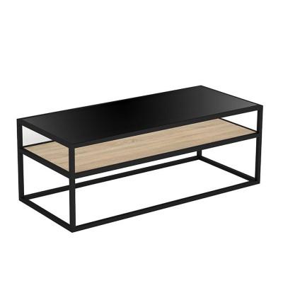 LOOK COFFEE TABLE ΜΑΥΡΟ SONOMA 117x51xH43cm