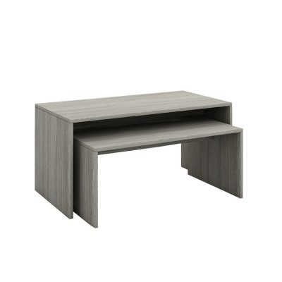 ALL DAY COFFEE TABLE ΓΚΡΙ OAK 90/80x45xH45/34cm