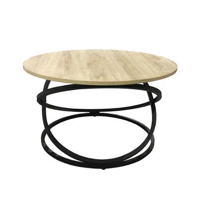 ALTA COFFEE TABLE SONOMA DECAPE ΜΑΥΡΟ D79xH46cm