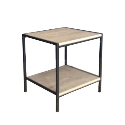 CRUDO SIDE TABLE SONOMA DECAPE ΜΑΥΡΟ 50x50xH50cm
