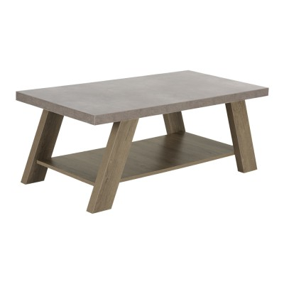 BONDI COFFEE TABLE CEMENT SONOMA ΣΚΟΥΡΟ 119x59xH46cm