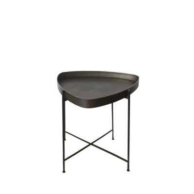 PEN SIDE TABLE ΜΑΥΡΟ BRUSHED 55x55xH60,5cm
