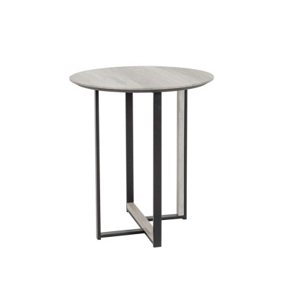 COMBO SIDE TABLE SONOMA DECAPE ΜΑΥΡΟ D45xH50cm