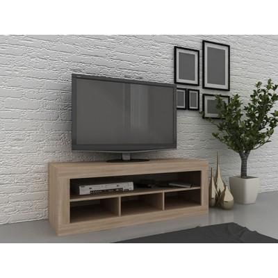 SORISSO TV STAND SONOMA ΣΚΟΥΡΟ 131x47xH47cm