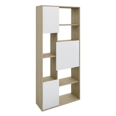 BOX ΒΙΒΛΙΟΘΗΚΗ SONOMA ΛΕΥΚΟ 80x30xH180cm