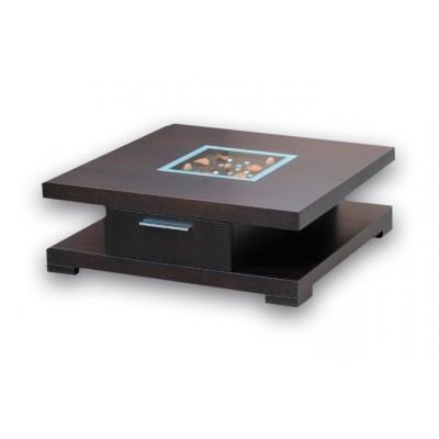 Τραπεζάκι σαλονιού ξύλινο τετράγωνο ΞΥΛΙΝΑ, επιπλα - insidehome.gr