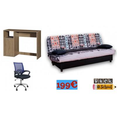 Back2School Σετ Γραφείο & Καρέκλα Γραφείου & Καναπές κρεβάτι με αποθηκευτικό χώρο LD08 ΦΟΙΤΗΤΙΚΑ ΕΠΙΠΛΑ - ΠΑΚΕΤΑ, insidehome.gr