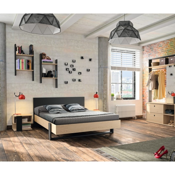 Duplex Σετ κρεβατοκάμαρας Black/Natural  , insidehome.gr