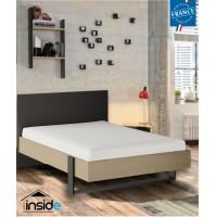 Duplex Κρεβάτι Ημίδιπλο 130x204εκ. ( για στρώμα 120x200εκ.)  Black/Natural Chestnut