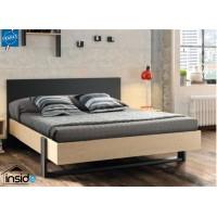 Duplex Κρεβάτι Διπλό 150x204εκ. (για στρώμα 140x200εκ. ) Black/Natural