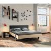 Duplex Σετ Κρεβάτι Διπλό με 2 κομοδίνα Black/Natural  , insidehome.gr