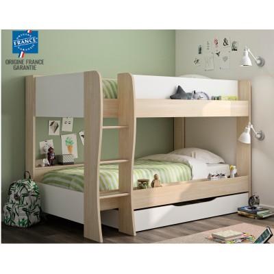 Roomy Κουκέτα παιδική με 2 μονά κρεβάτια, αποθηκευτικό συρτάρι & σκάλα , 209X130X145εκ.