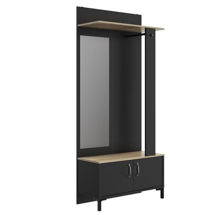 Store Έπιπλο Εισόδου 81x37x190εκ. Black/Natural ΕΠΙΠΛΑ ΕΙΣΟΔΟΥ - ΧΩΛ , insidehome.gr