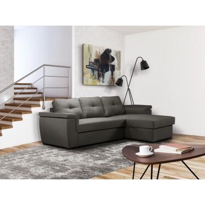 Cayenne Γωνιακός καναπές κρεβάτι 249x160εκ. με αποθηκευτικό χώρο Γκρι