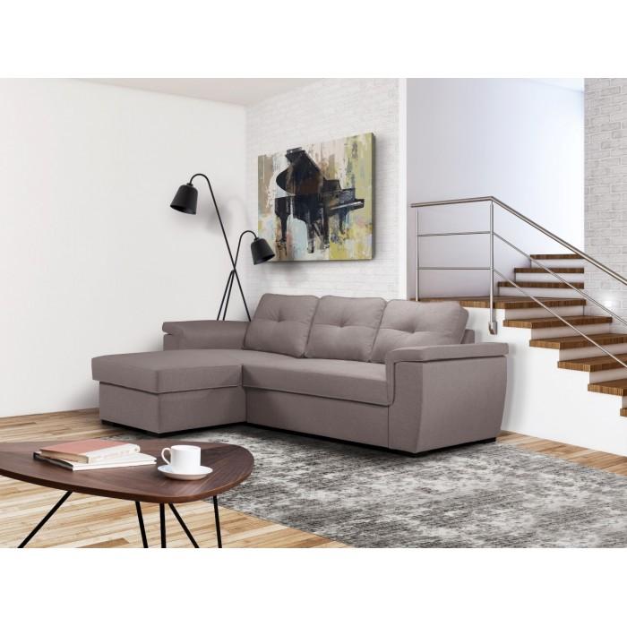 Cayenne Γωνιακός καναπές κρεβάτι 249x160εκ. με αποθηκευτικό χώρο Γκρι ΑνοιχτόΓΩΝΙΑΚΟΙ ΚΑΝΑΠΕΔΕΣ, insidehome.gr