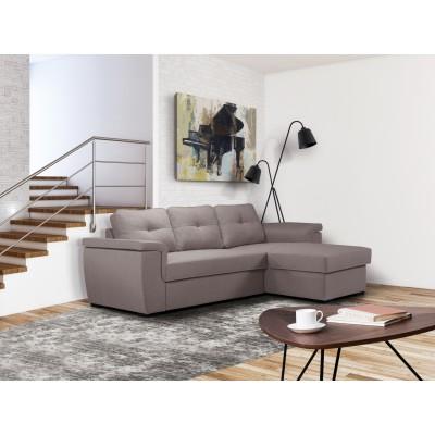 Cayenne Γωνιακός καναπές κρεβάτι 249x160εκ. με αποθηκευτικό χώρο Γκρι Ανοιχτό