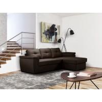 Cayenne Γωνιακός καναπές κρεβάτι 249x160εκ.  με αποθηκευτικό χώρο Καφέ