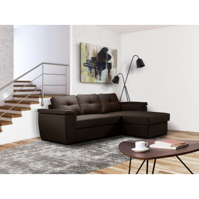 Cayenne Γωνιακός καναπές κρεβάτι με αποθηκευτικό χώρο Καφέ  , insidehome.gr