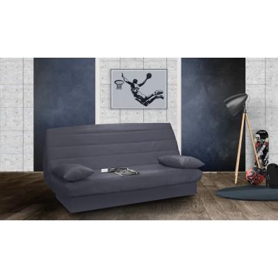 Καναπές κρεβάτι 190x90/135εκ. με αποθηκευτικό χώρο GRIS LUX
