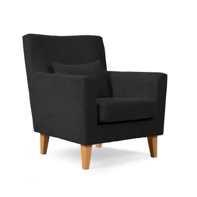 Πολυθρόνα καθιστικού 65x75εκ. LOBBY Μαύρο