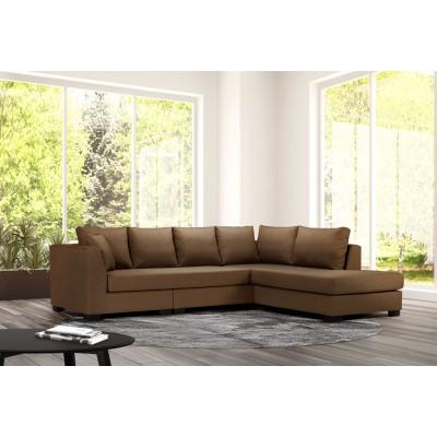 Γωνιακός καναπές 277x214εκ. DIVA IM54 Καφέ