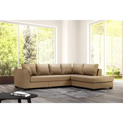 Γωνιακός καναπές 277x214εκ. DIVA IM54 Μπεζ