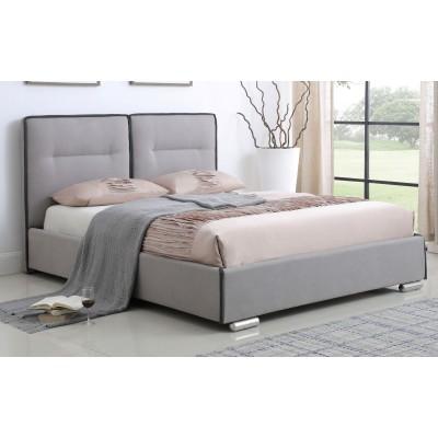 Ντυμένο Κρεβάτι με αποθηκευτικό χώρο JN190 173X216εκ. (για στρώμα 160Χ200ΕΚ.) Γκρι Ανοιχτό
