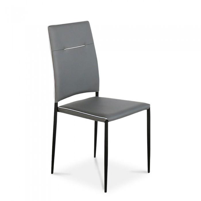 Rosa σετ τραπέζι επεκτεινόμενο 160(200)x80εκ. Sonoma Μαύρο  με 6 καρέκλες Γκρι  ΣΕΤ ΤΡΑΠΕΖΙ+ΚΑΡΕΚΛΕΣ , insidehome.gr